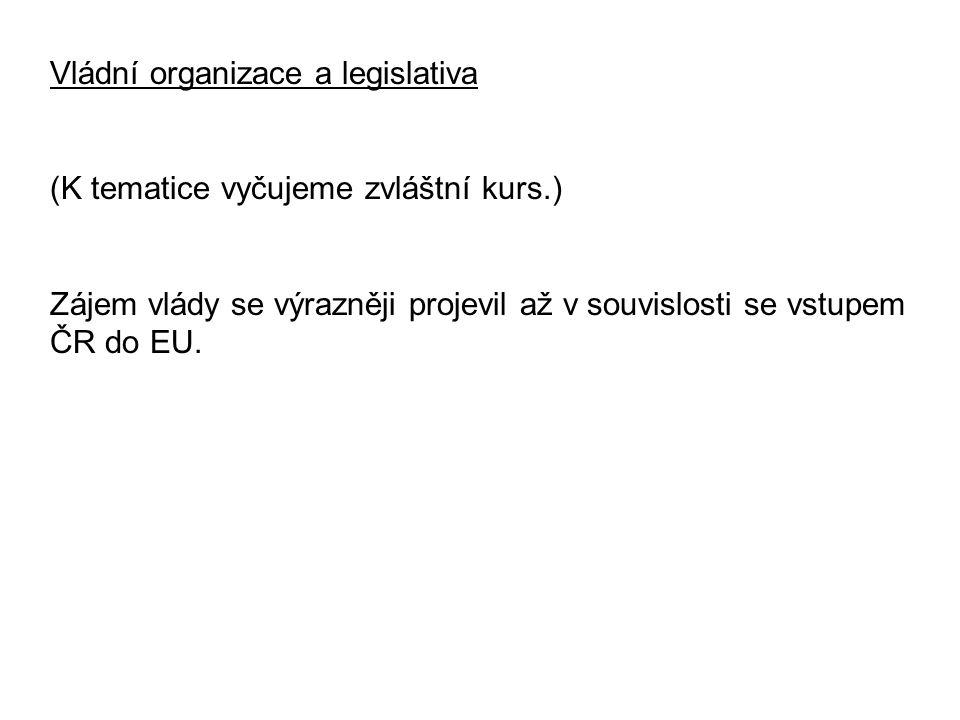 Vládní organizace a legislativa