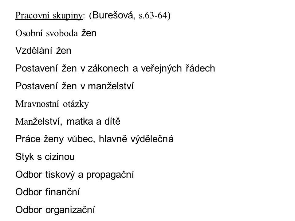 Pracovní skupiny: (Burešová, s.63-64)