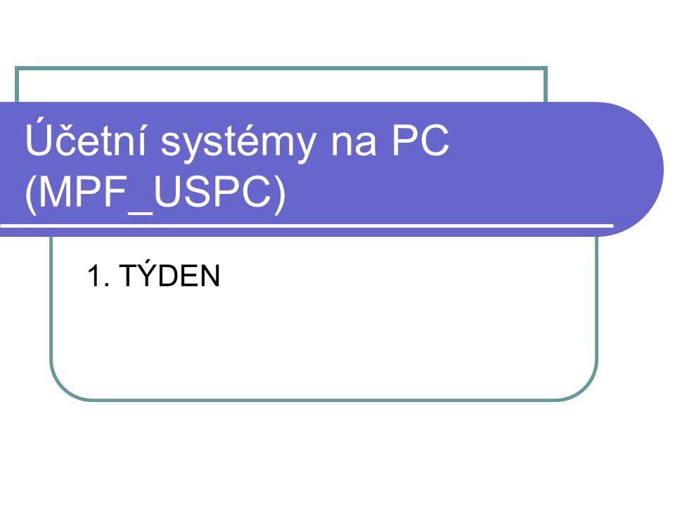Účetní systémy na PC (MPF_USPC)