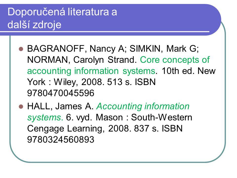 Doporučená literatura a další zdroje