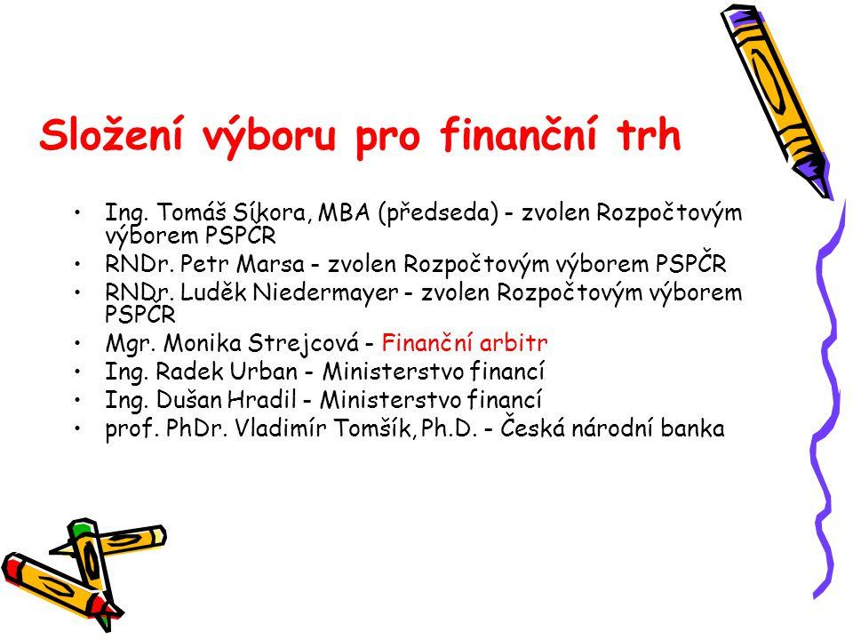 Složení výboru pro finanční trh