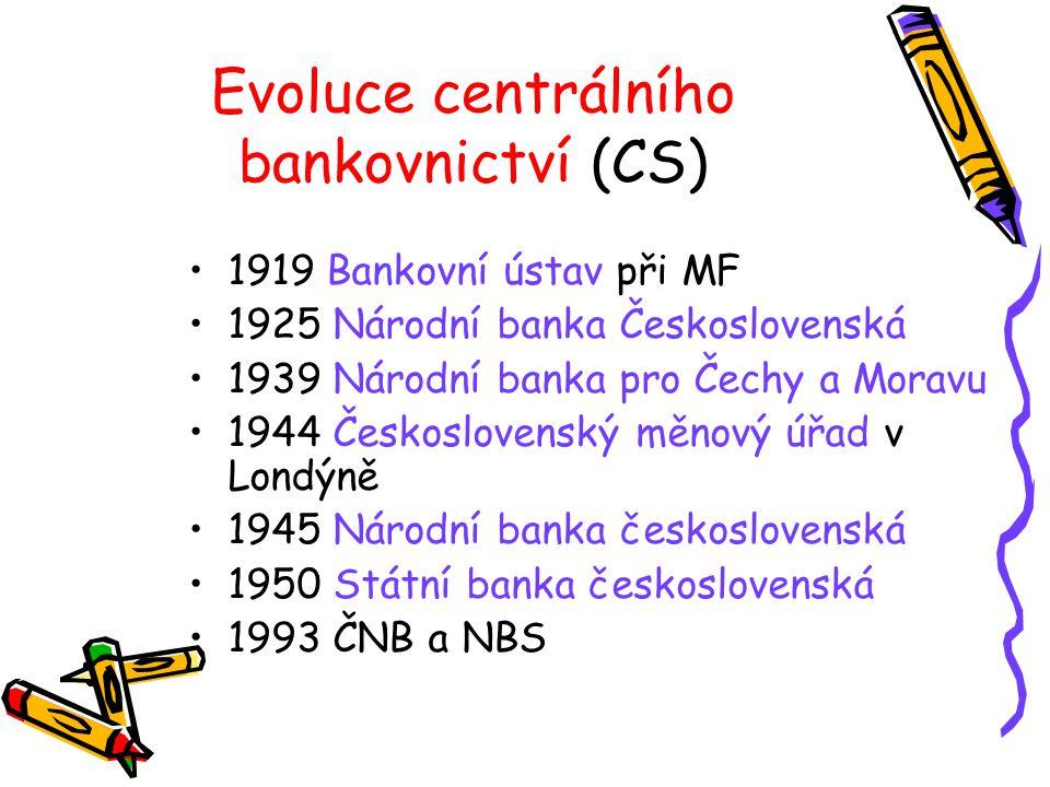 Evoluce centrálního bankovnictví (CS)