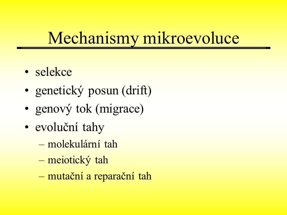 Mechanismy mikroevoluce