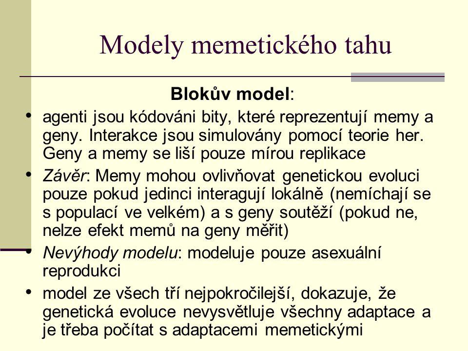 Modely memetického tahu