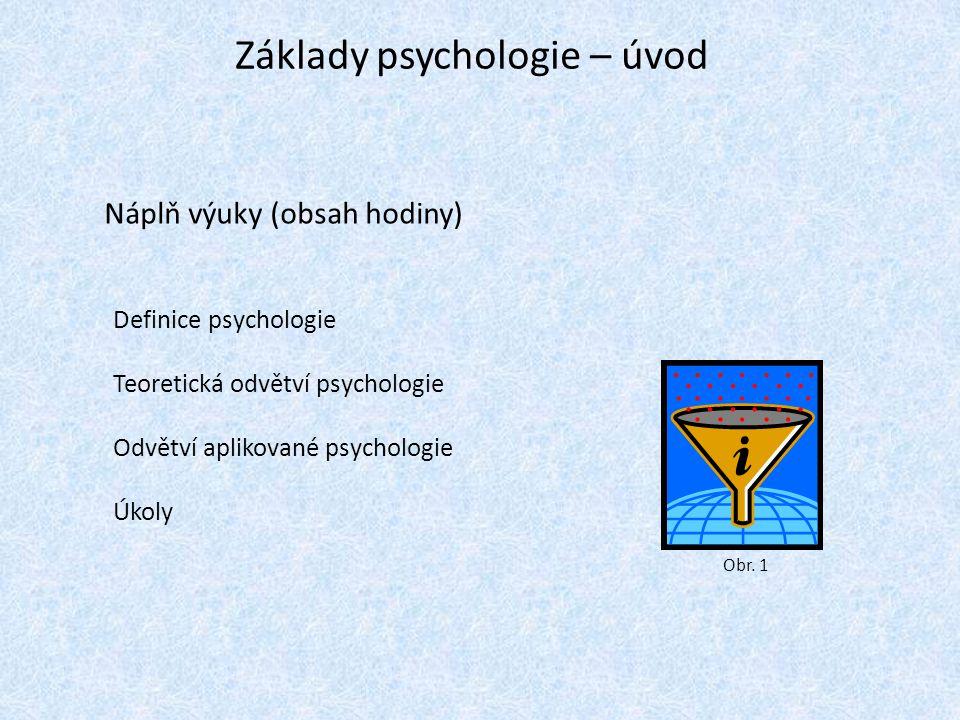Základy psychologie – úvod