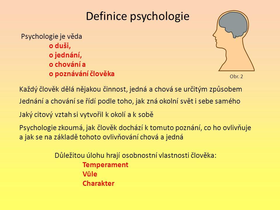Definice psychologie Psychologie je věda o duši, o jednání,