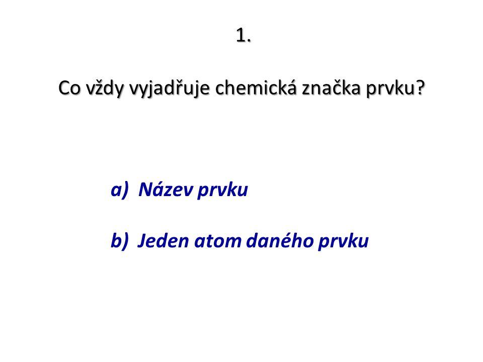 Co vždy vyjadřuje chemická značka prvku