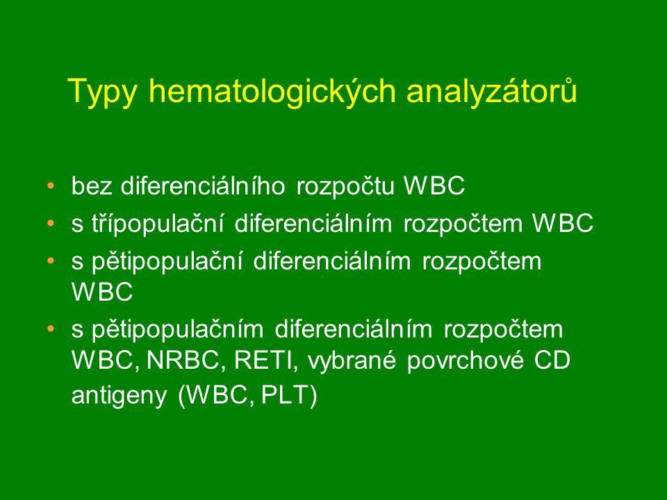 Typy hematologických analyzátorů