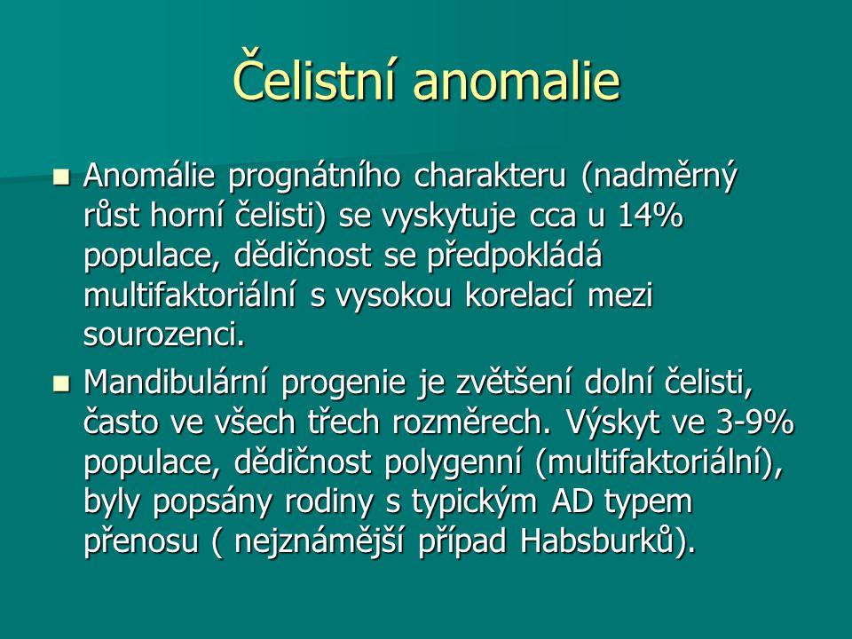 Čelistní anomalie