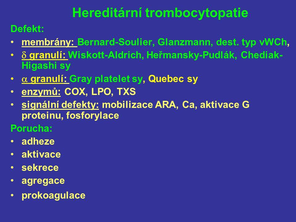 Hereditární trombocytopatie