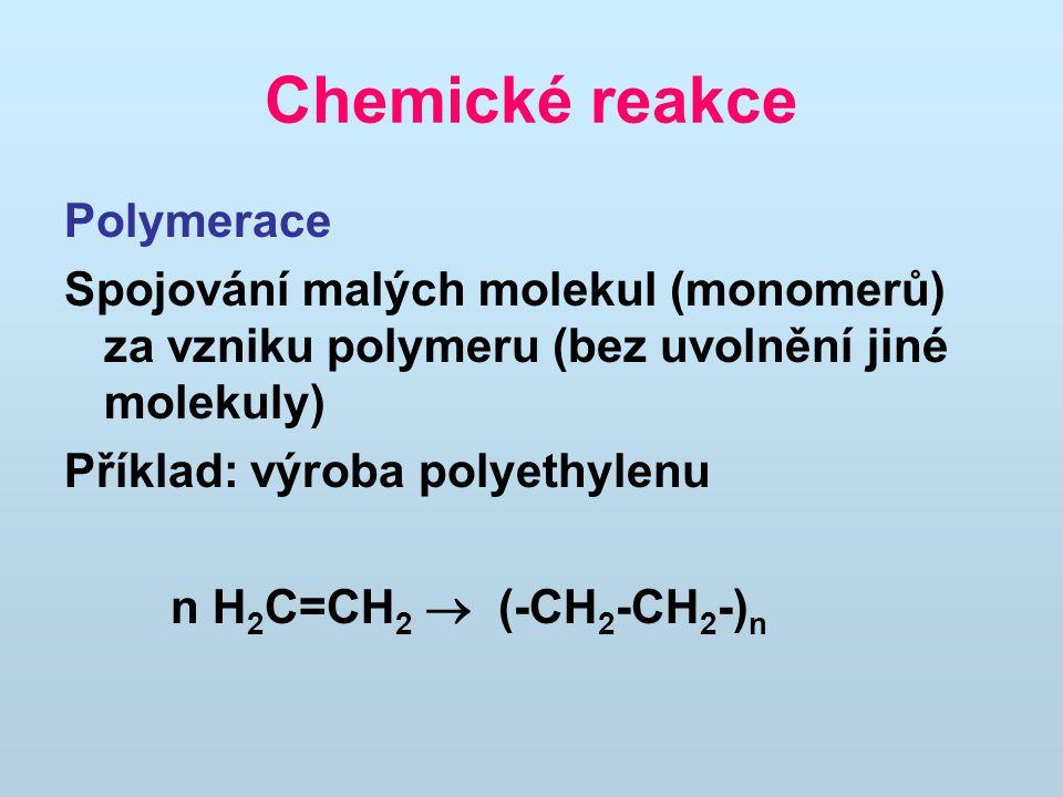 Chemické reakce Polymerace