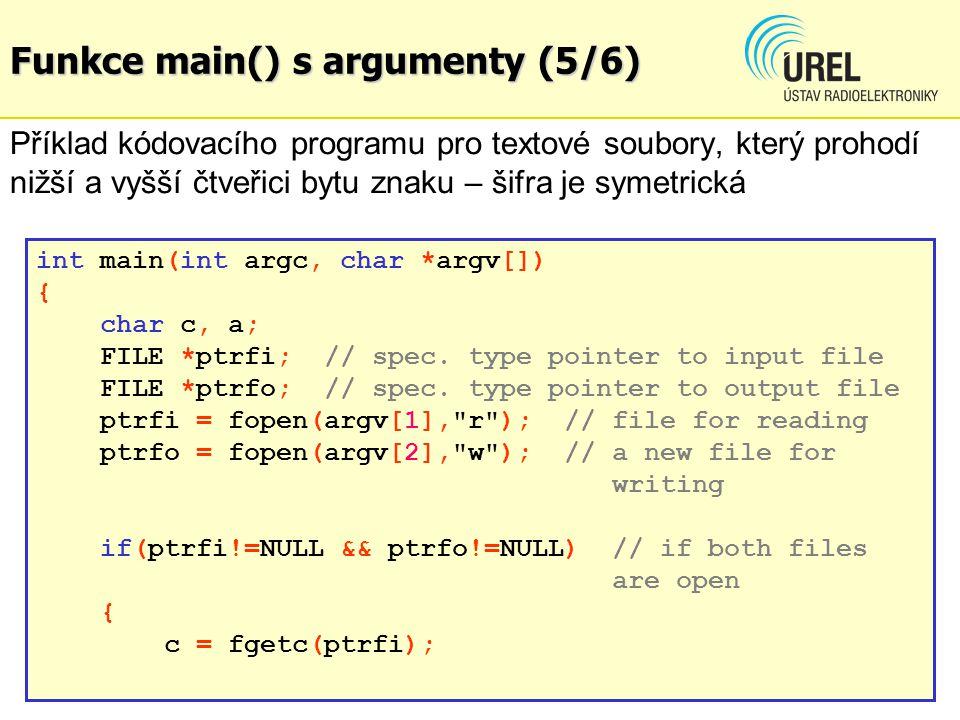 Funkce main() s argumenty (5/6)