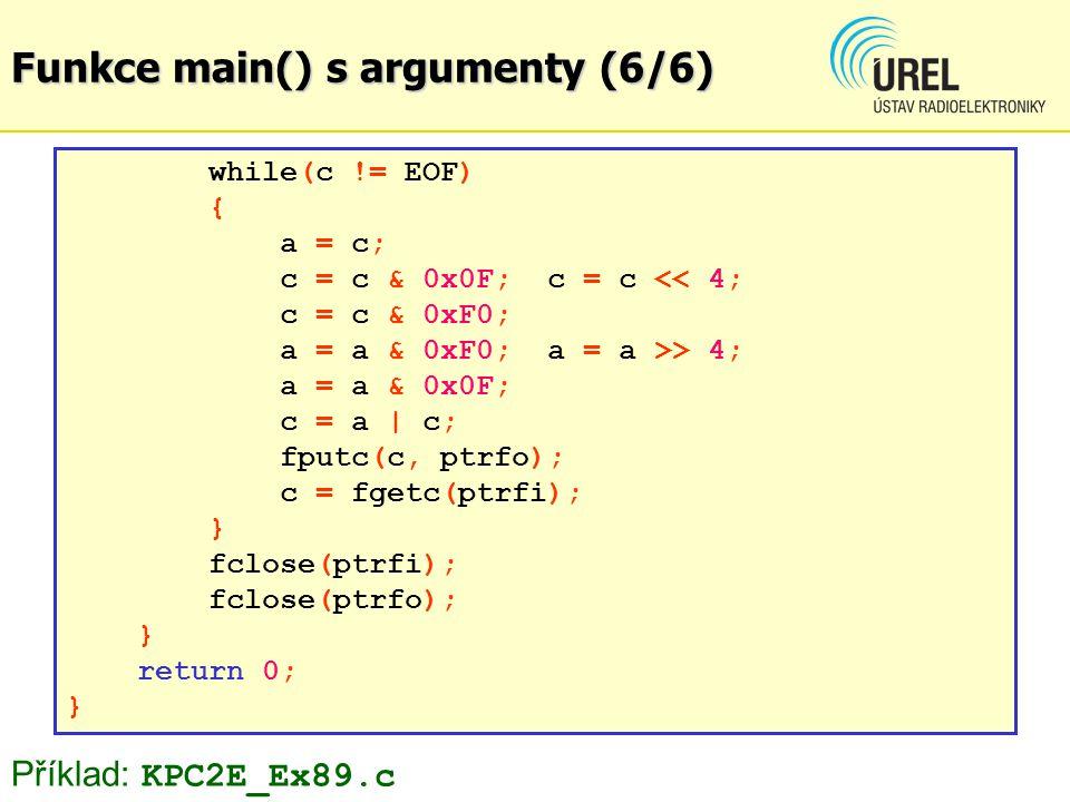 Funkce main() s argumenty (6/6)