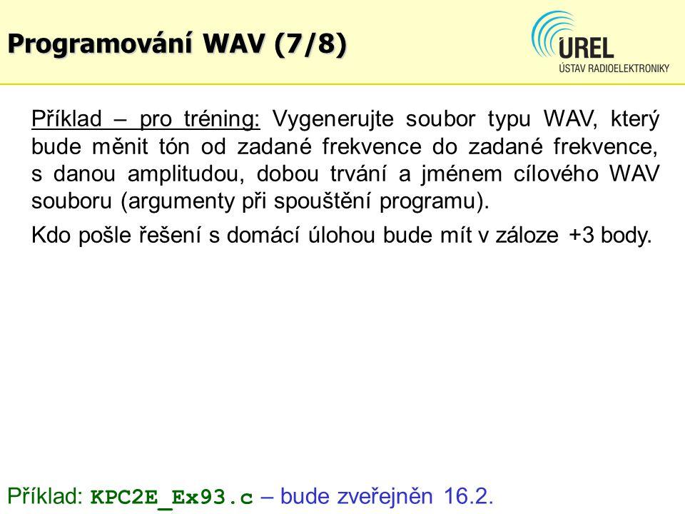 Programování WAV (7/8)