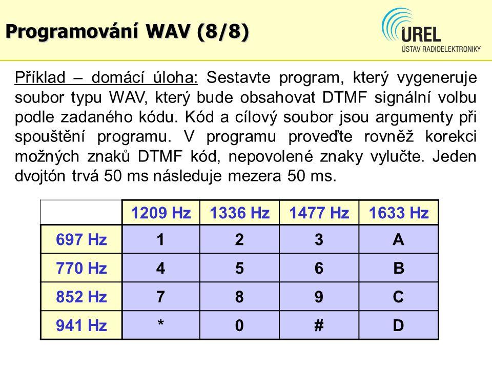 Programování WAV (8/8)