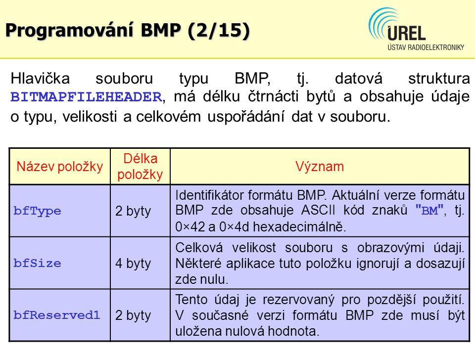 Programování BMP (2/15)