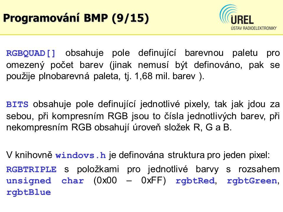 Programování BMP (9/15)