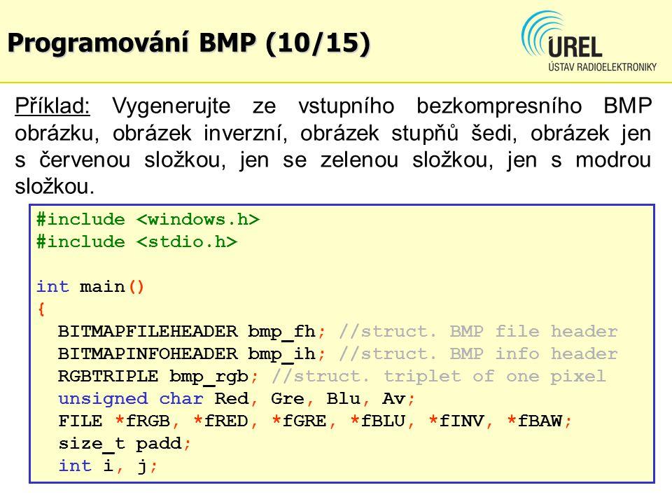 Programování BMP (10/15)