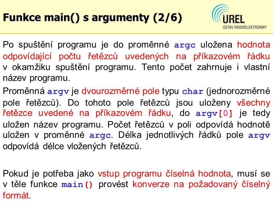 Funkce main() s argumenty (2/6)