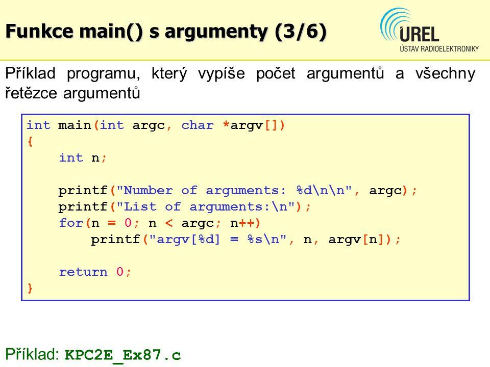 Funkce main() s argumenty (3/6)