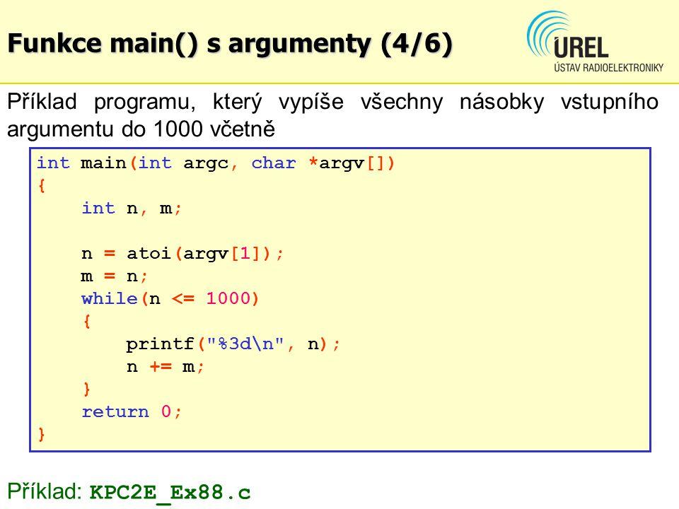 Funkce main() s argumenty (4/6)