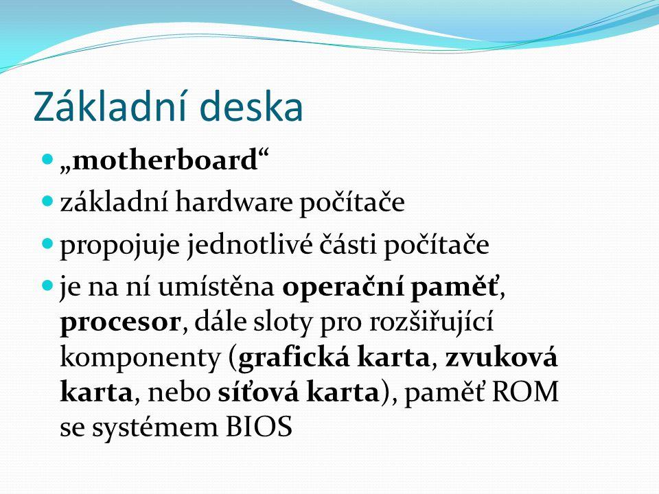 """Základní deska """"motherboard základní hardware počítače"""