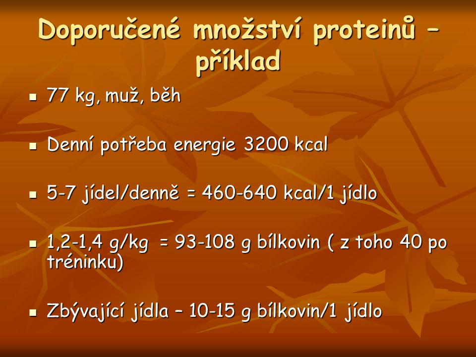 Doporučené množství proteinů – příklad