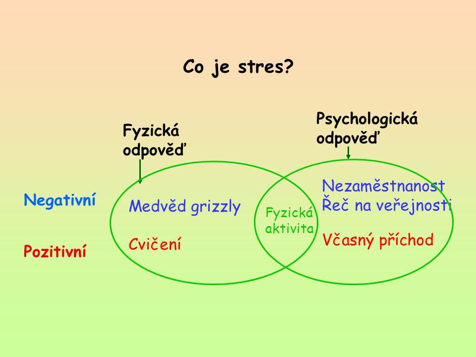 Co je stres Psychologická odpověď Fyzická odpověď Nezaměstnanost