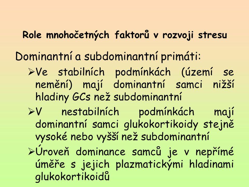 Role mnohočetných faktorů v rozvoji stresu