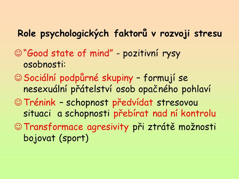 Role psychologických faktorů v rozvoji stresu