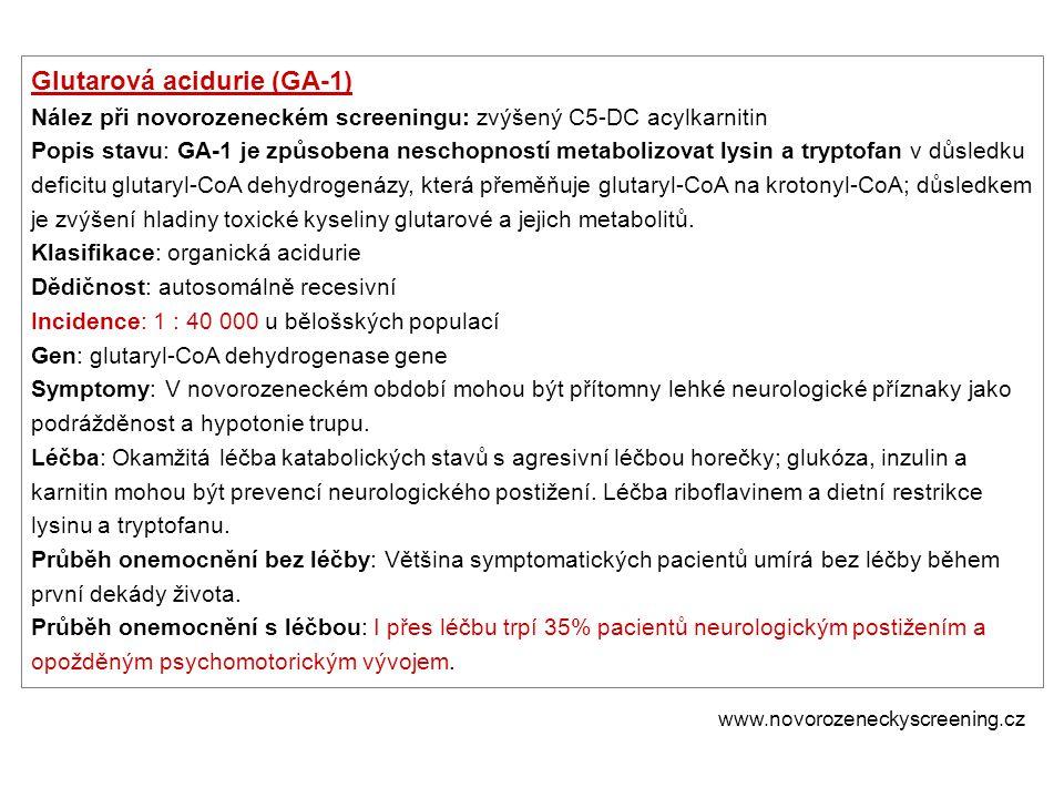 Glutarová acidurie (GA-1)