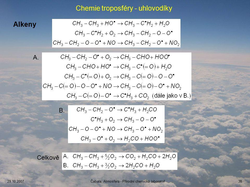 Chemie troposféry - uhlovodíky