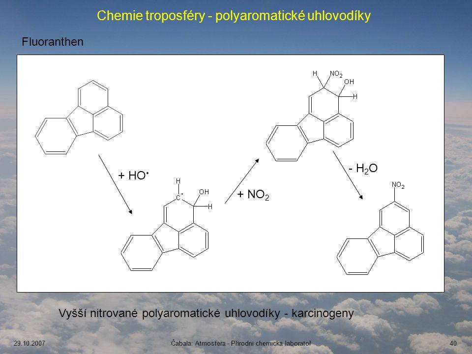 Chemie troposféry - polyaromatické uhlovodíky