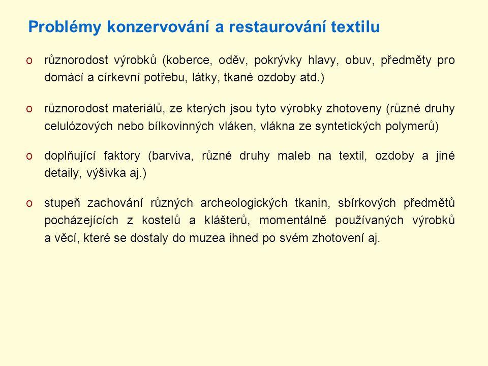 Problémy konzervování a restaurování textilu