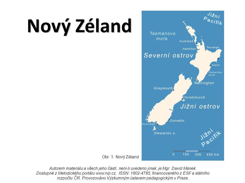 Nový Zéland Obr. 1: Nový Zéland