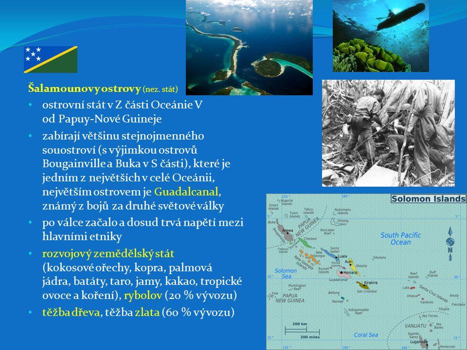 ostrovní stát v Z části Oceánie V od Papuy-Nové Guineje