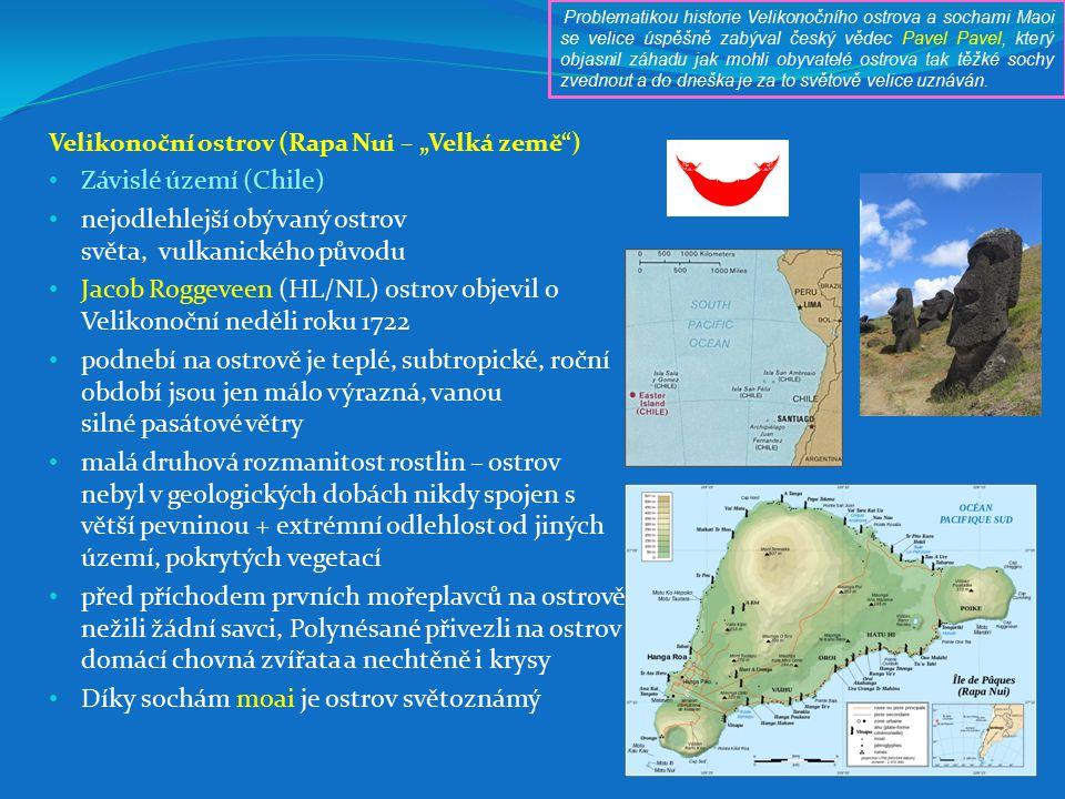 nejodlehlejší obývaný ostrov světa, vulkanického původu