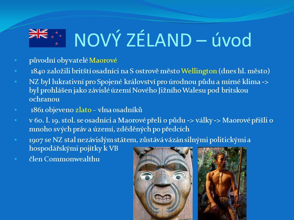 NOVÝ ZÉLAND – úvod původní obyvatelé Maorové