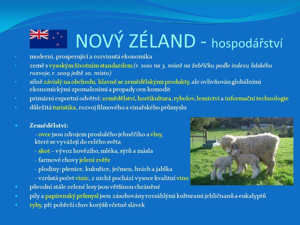 NOVÝ ZÉLAND - hospodářství