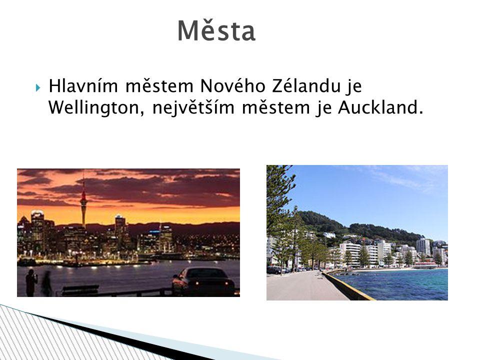Města Hlavním městem Nového Zélandu je Wellington, největším městem je Auckland.
