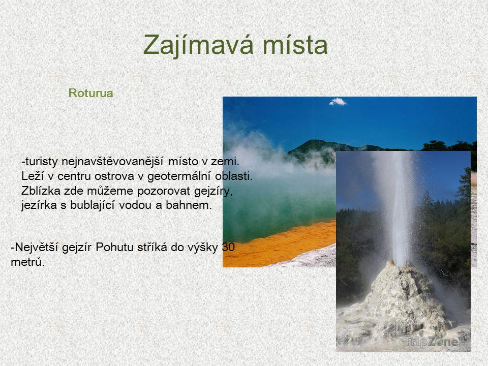 Zajímavá místa Roturua