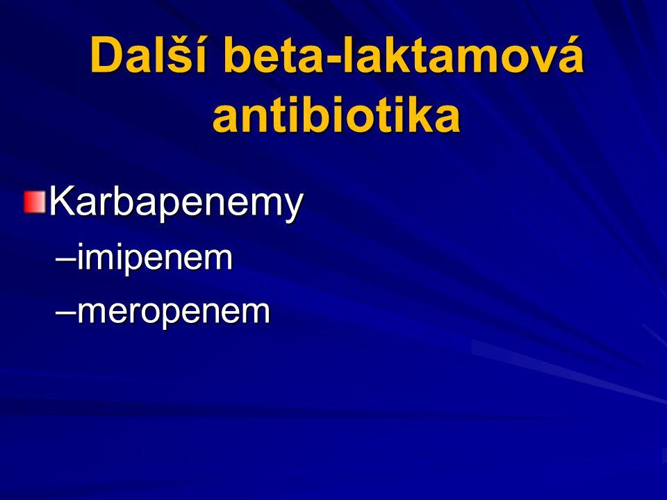 Další beta-laktamová antibiotika