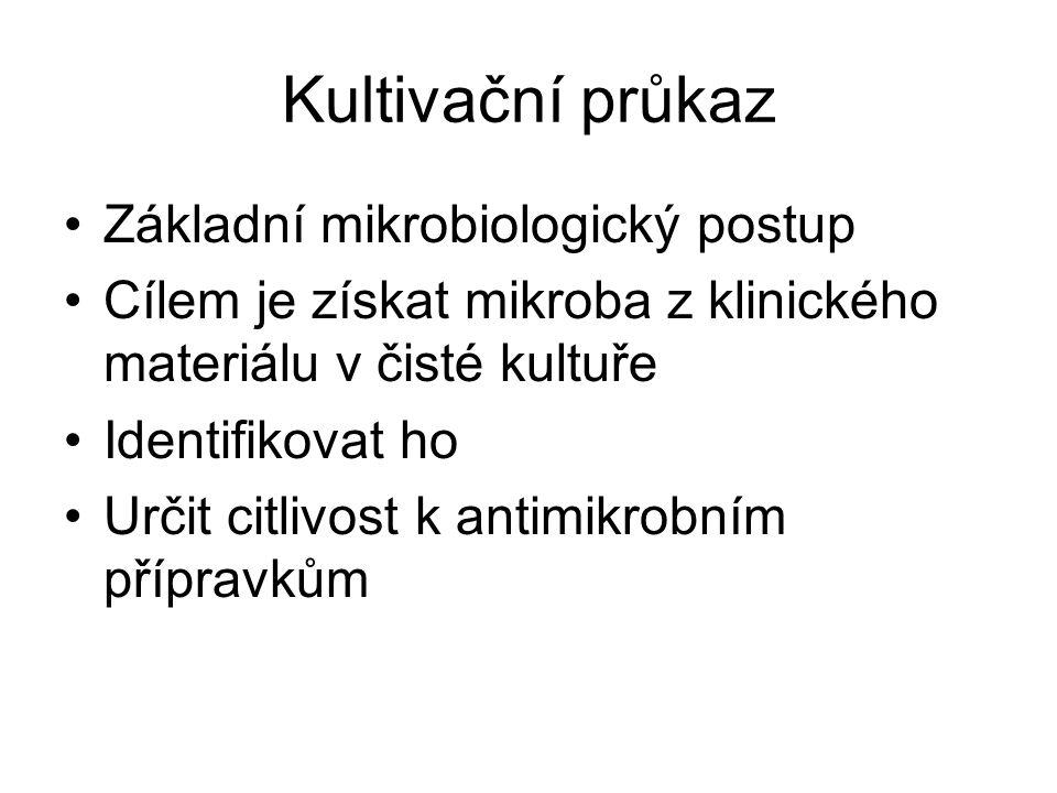 Kultivační průkaz Základní mikrobiologický postup