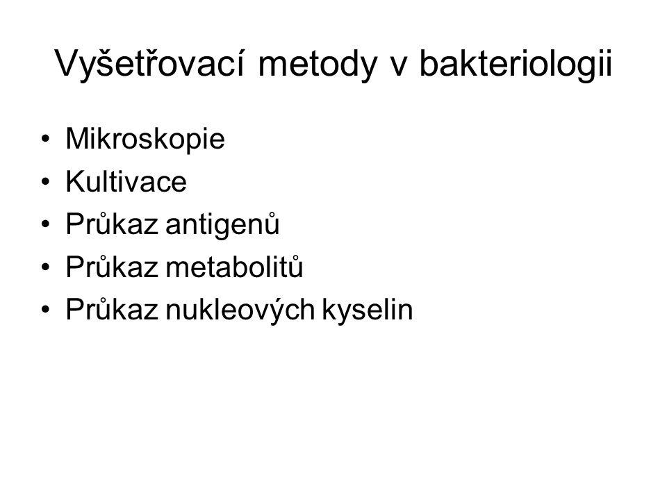 Vyšetřovací metody v bakteriologii
