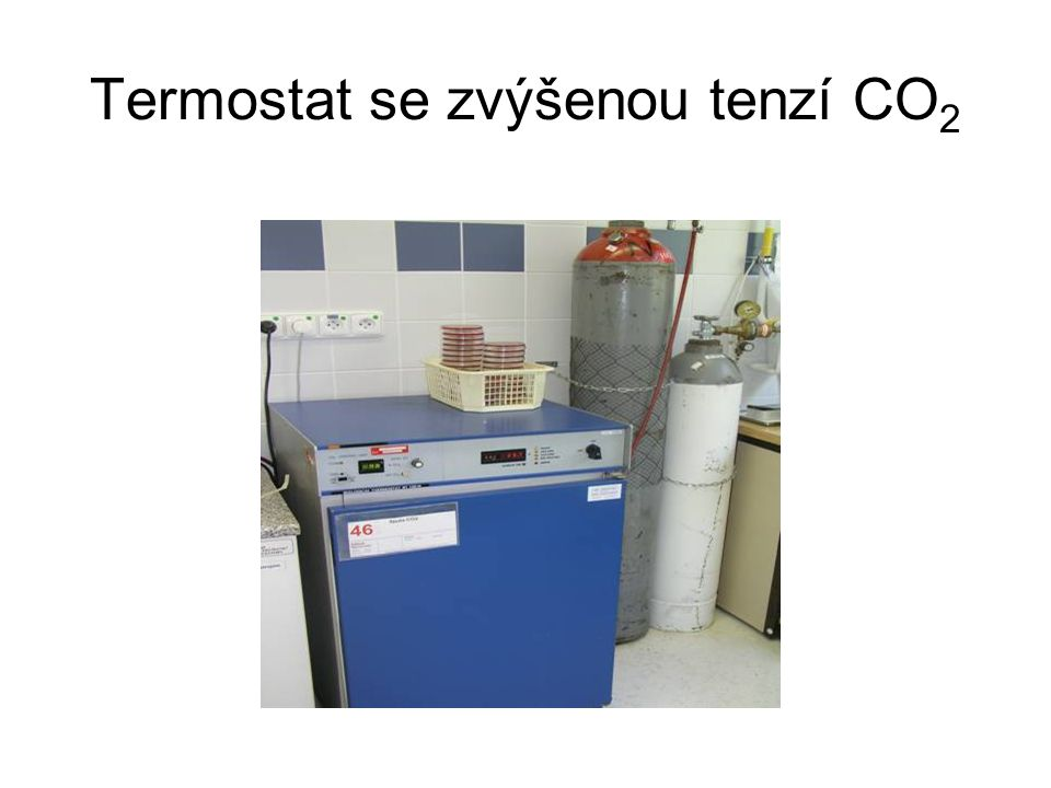 Termostat se zvýšenou tenzí CO2
