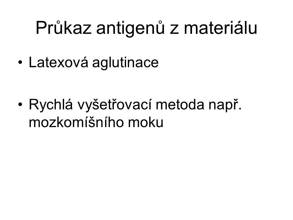 Průkaz antigenů z materiálu