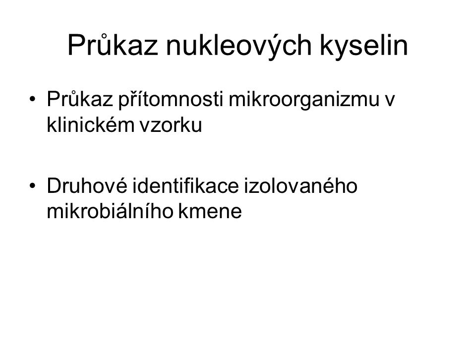 Průkaz nukleových kyselin