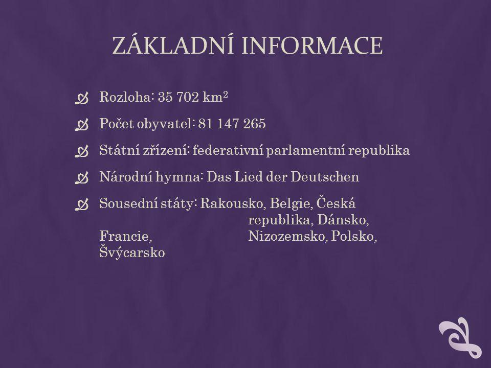 ZÁKLADNÍ INFORMACE Rozloha: 35 702 km2 Počet obyvatel: 81 147 265