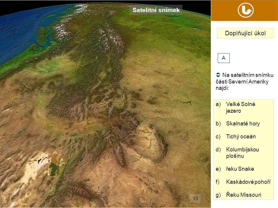 Satelitní snímek Doplňující úkol A