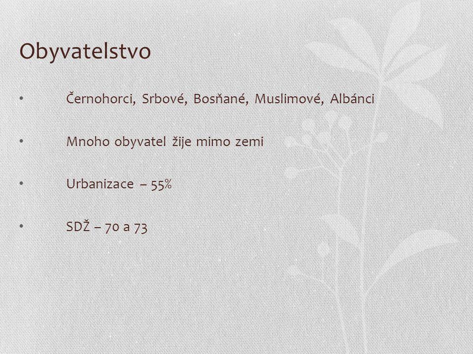 Obyvatelstvo Černohorci, Srbové, Bosňané, Muslimové, Albánci